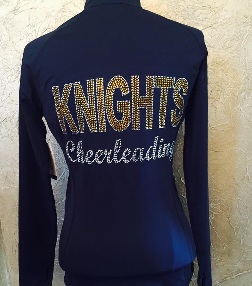 Knights Cheerleading bling rhinestone cheer jacket