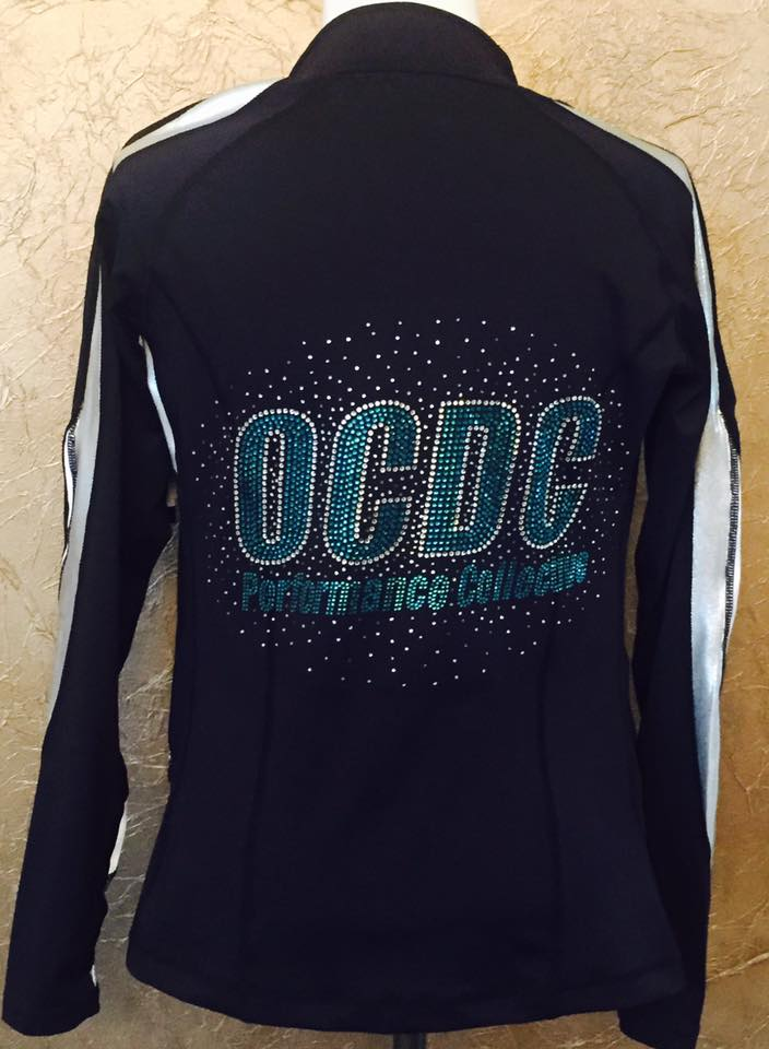 OCDC Performance Collective Dance team jacket with rhinestones