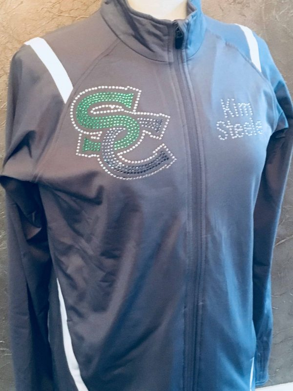 South County Stallions Bling Cheer Mom Jacket front view