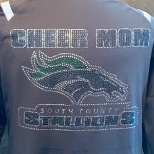 South County Stallions Bling Cheer Mom Jacket back view
