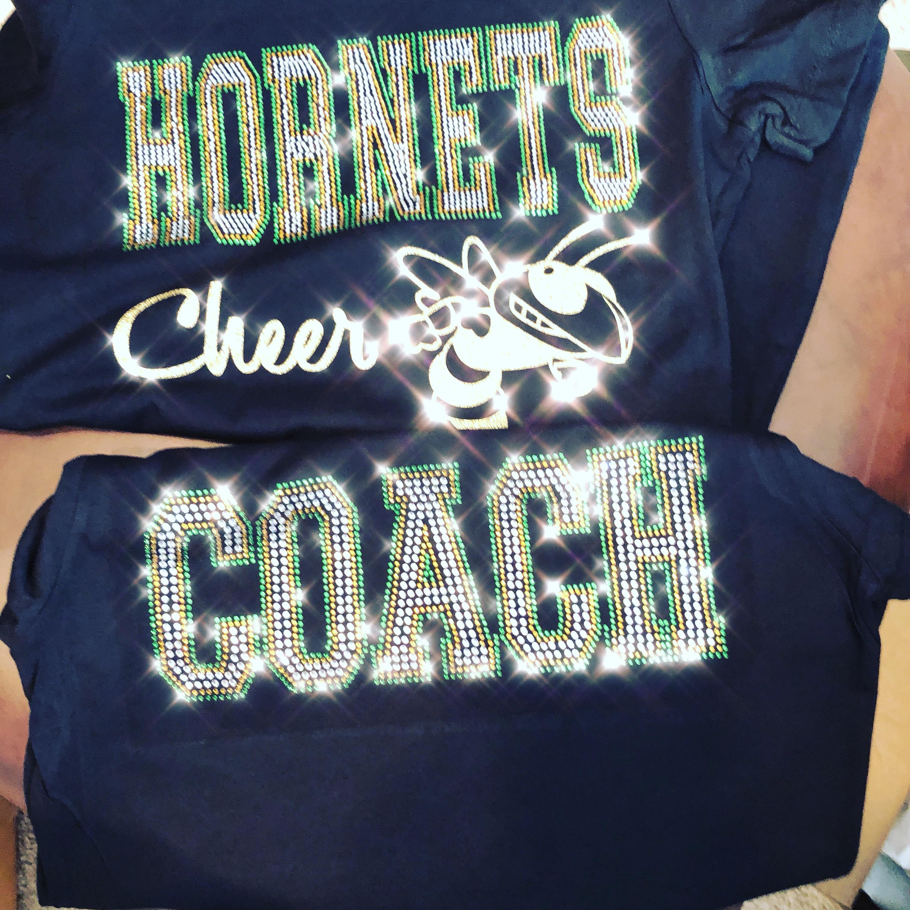 Hornets Rhinestone Cheer Shirts