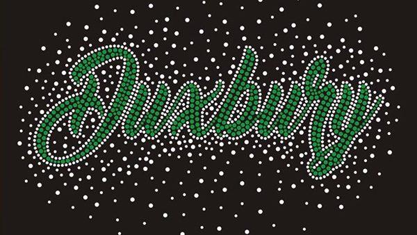 Duxbury cheer rhinestone jacket design