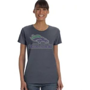 stallions rhinestones shirt on grey tee