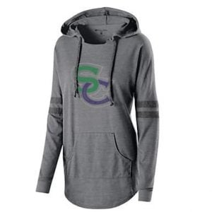 stallions-low-keep-pullover grey with rhinestones