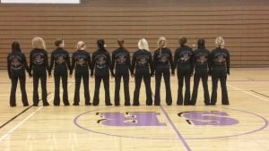 Snake River Cheer Team wearing Customized Cheer Team Warm-ups from Crystallized Couture