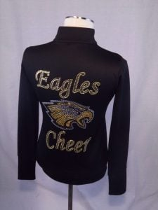 Eagles Cheer Jacket with Rhinestones