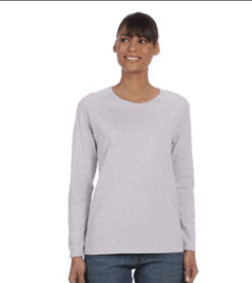 Gildan ladies crew neck