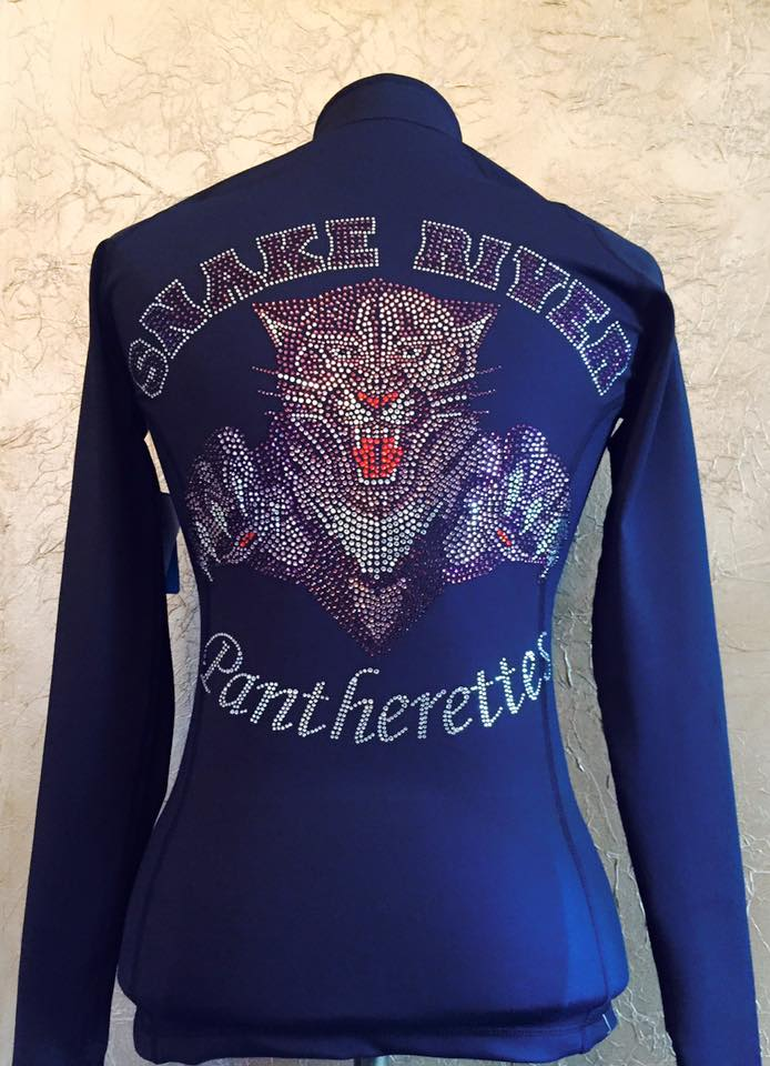 Snake River Panthers Custom Cheer Jackets with Rhinestones from Crystallized Couture
