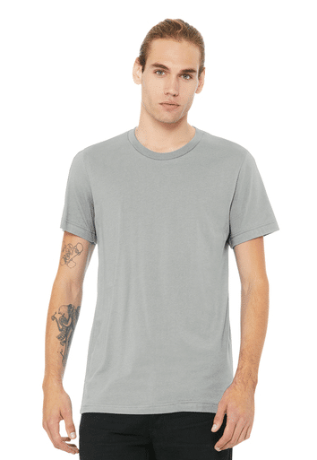 bella unisex grey tee