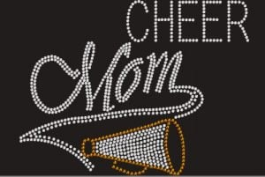 Custom Bling Cheer Mom Shirt