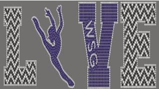 wsg love custom logo for bling dance jackets