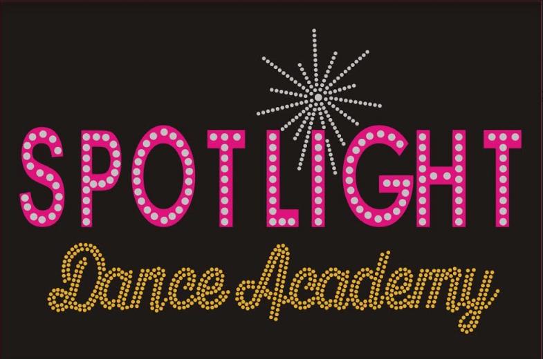spotlight dance academy rhinestone logo