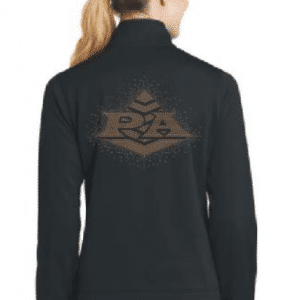 Dance team warm up jackets with rhinestones by Crystallized Couture