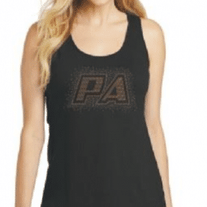 Custom moisture wicking tank top by Crystallized Couture