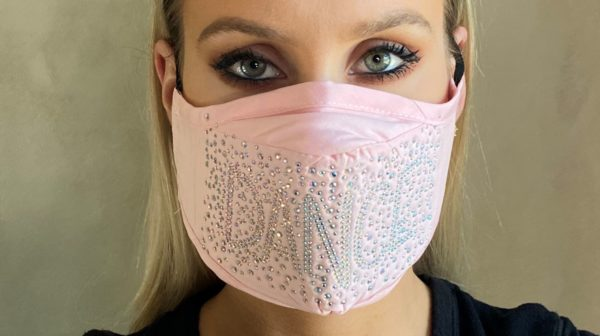 Bling Dance Pink Face Mask