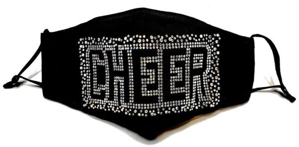 Reusable Adjustable Bling Cloth Cheer Face Mask