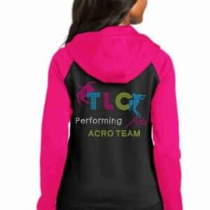 Acro team custom zip up hoodie by Crystallized couture