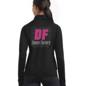 Dance Factory dance team jacket by Crystallized couture
