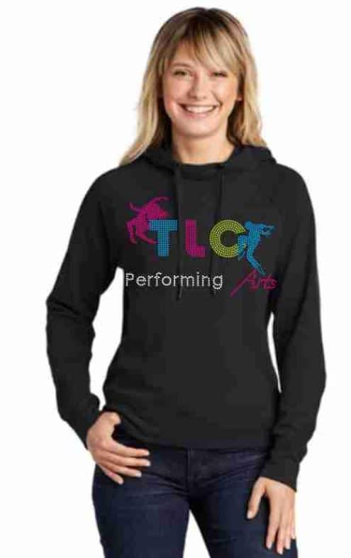 Custom dance hoodie by Crystallized Couture