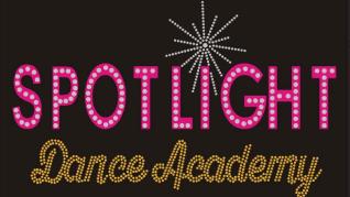 spotlight dance academy rhinestone glitter logo for bling apparel