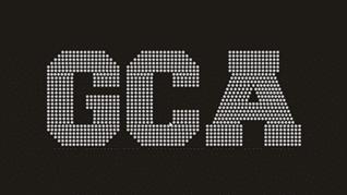GCA Cheer Teams logo in rhinestones