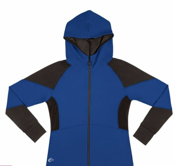 polyester and spandex jacket in royal blue