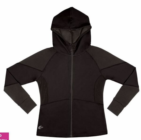 polyester and spandex jacket in black