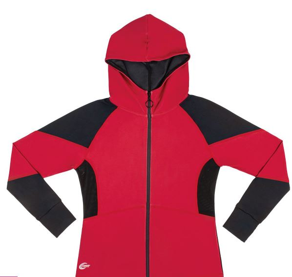 polyester and spandex jacket in red