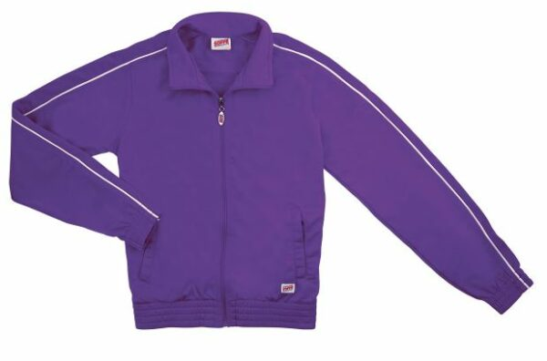 brush tricot polyester dance team warm up jacket