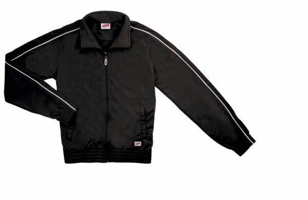 brush tricot polyester dance team jacket
